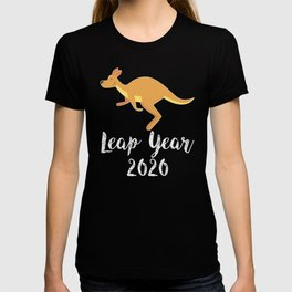 Leap Year February 29th 2020 Leap Day Kangaroo Jump T-shirt