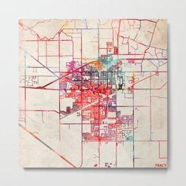 Tracy map California CA Metal Print