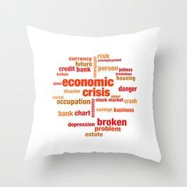 Economic Crisis Capitalist Gift Throw Pillow