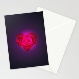 Heart of flower Stationery Cards