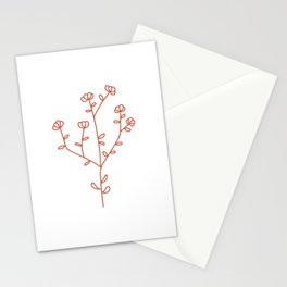 Fantasy Flower Red Stationery Cards