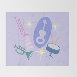 Django Jazz Composition In Purple Throw Blanket