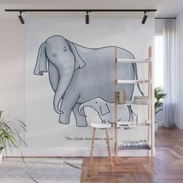 """""""The Clients Have More Notes"""" Wall Mural"""