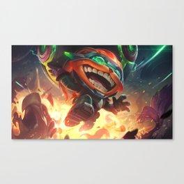 Odyssey Ziggs League Of Legends Canvas Print