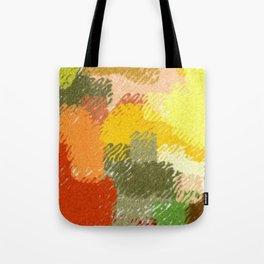 Abstract art watercolor art minimalist orange brown Tote Bag