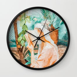 Turkish Reader Wall Clock