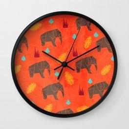 Elephant Origami Wall Clock