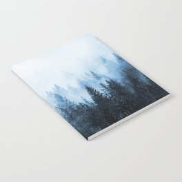 Misty Winter Forest Notebook