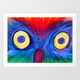 Surprised Owl  Art Print