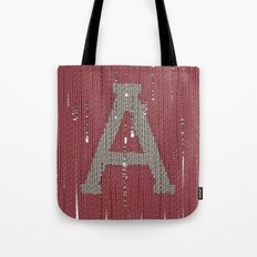 Winter clothes II. Letter A Tote Bag
