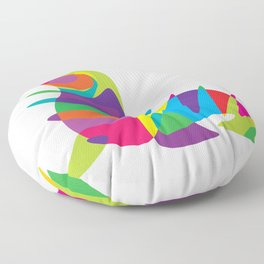 Colorful seal Floor Pillow