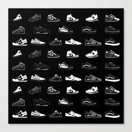 Black Sneaker Canvas Print