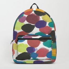 Colorful Painterly Spots Backpack