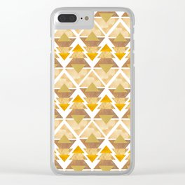 Natural Geometric Forest Clear iPhone Case