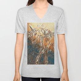 Unicorn Ride Beach Fantasy Unisex V-Neck