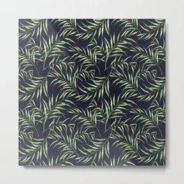 Tropical palm pattern. Watercolor Metal Print