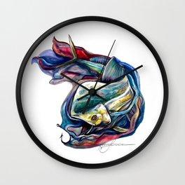 Hook'em Mahimahi  Wall Clock