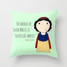 Snow White: Never Eat Apples Throw Pillow