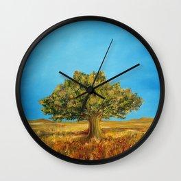 Tuscany, italian summer. Wall Clock