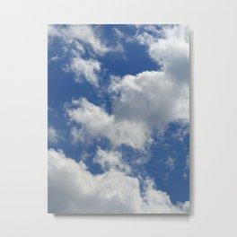 Sunny Cloudy Sky Metal Print