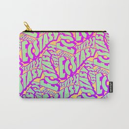 'Ecstacy' 70's Psych Poster Fade Pattern Carry-All Pouch