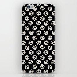Cute Skulls (Black) iPhone Skin