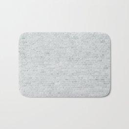 White Washed Brick Wall Stone Cladding Bath Mat
