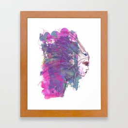 Feathers in her Hair by Jane Davenport Framed Art Print