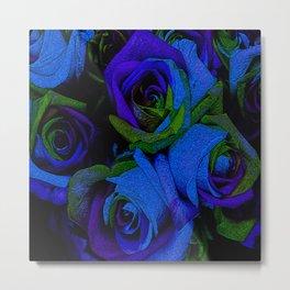Funky Roses V Metal Print