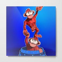 Barrel O'Monkeys Metal Print
