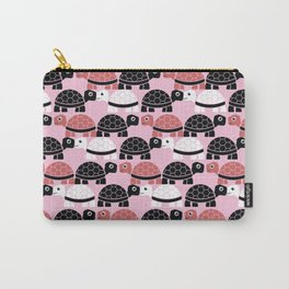 Turtle Pattern (Pink/BlackWhite) Carry-All Pouch