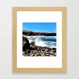 Get away from it all. Framed Art Print