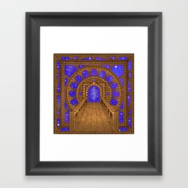 orvio illuminated space mandala Framed Art Print