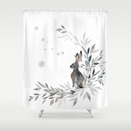 First Winters Frost Shower Curtain