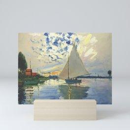 Sailboat Le-Petit-Gennevilliers Claude Monet Fine Art Mini Art Print