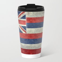 The State flag of Hawaii - Vintage version Travel Mug