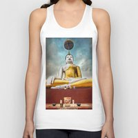 thailand Tank Tops featuring Buddha Thailand by Adrian Evans