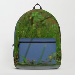 Marvelous Gracious White Heron Standing In Water Close Up Ultra HD Backpack