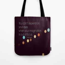 Imagination Mark Twain Quote Tote Bag
