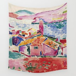 View of Collioure - Henri Matisse - Exhibition Poster Wall Tapestry