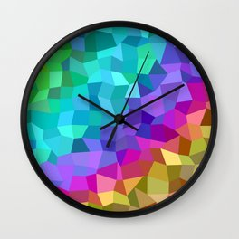 Multicolor mosaic tiles Wall Clock