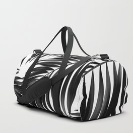Palm Tree Fronds Black on White Maui Hawaii Tropical Graphic Design Duffle Bag