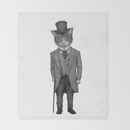 Mr.cat Throw Blanket