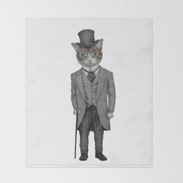Mr.cat Throw Blanket