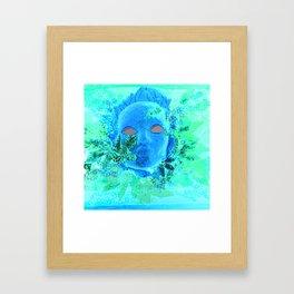 Born of the Sea Mask Framed Art Print