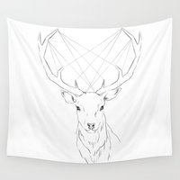 stag Wall Tapestries featuring Stag by Nicole Soriano
