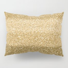 Glitter Glittery Copper Bronze Gold Pillow Sham