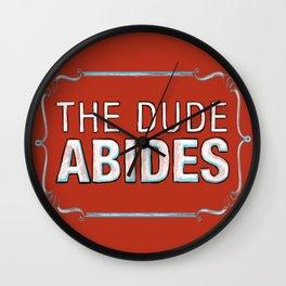 BIG LEBOWSKI- The Dude Abides Wall Clock