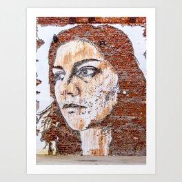 Painted women's face  Art Print