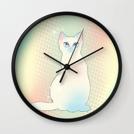 Star Cat Wall Clock